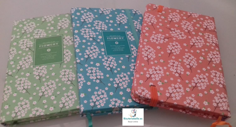 Mini-Libretas florales a elegir