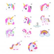 Anillos Infantiles Unicornios y Arcoiris Goma