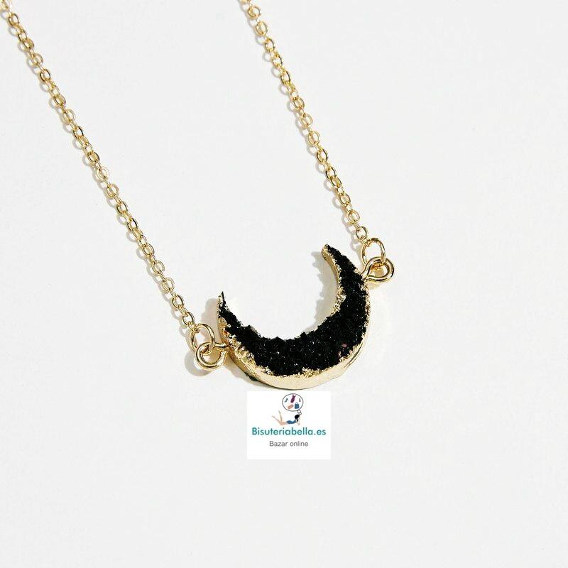Colgante dorado Luna Invertida Resina a elegir