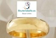 Anillo dorado liso efecto espejo (Bañado oro)