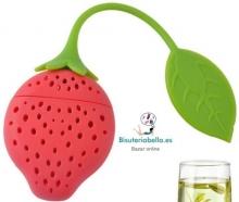 Filtro para infusiones con forma de fresa