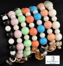 Pulseras bolas colores a elegir,Abalorios dorados Italy