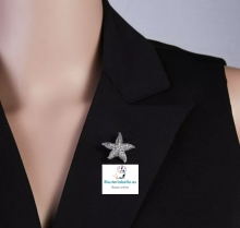 Broche plateado pequeño Estrella de Mar