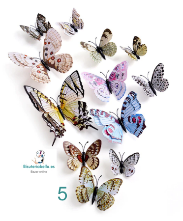 Set 12 Mariposas para decorar tus paredes 3D V.1