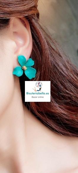 Pendientes flor irregular acrílico con detalles a elegir
