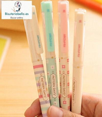 Boligrafo punta fina Corea Varios a elegir,rayas o flores