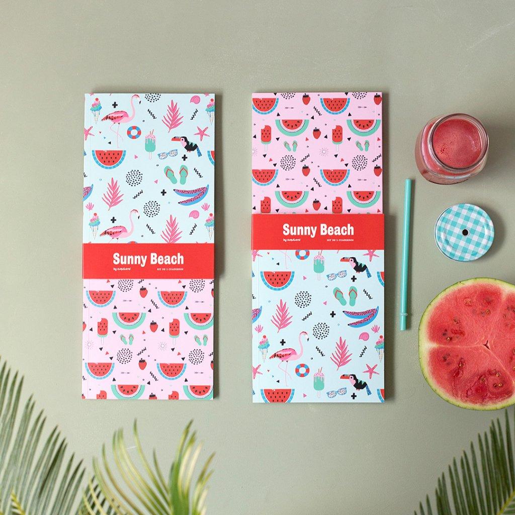 Set de 2 cuadernos Sunny Beach