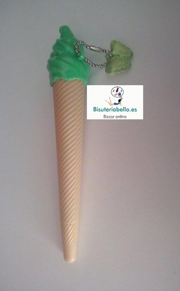 Boligrafos en forma de cono helado 12 colores a elegir