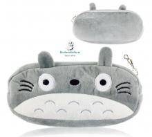 Estuche Gris grande tacto peluche, Totoro