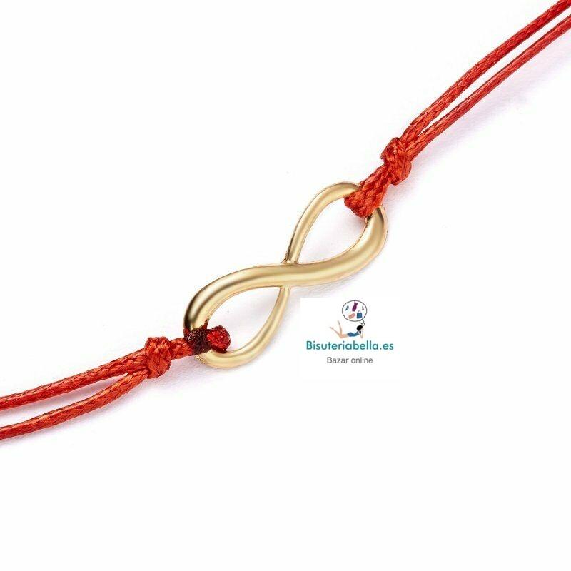 Pulsera Doble Cordon simbolo infinito  tonos a elegir