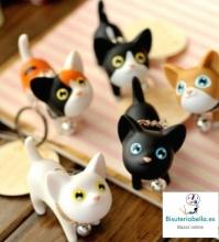 Llaveros a elegir gatitos amorosos con cascabel