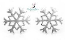 Pendientes copo de nieve plateados replica Frozen