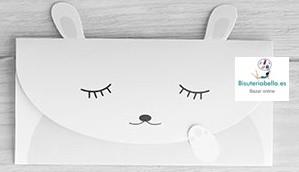 Sobre efecto Carta Conejito Durmiendo Kawaii