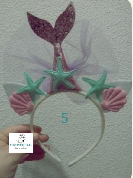 Diadema Sirena,estrellas y conchas a elegir