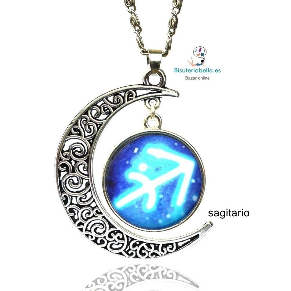 Colgantes plateados Luna azul Horoscopos a elegir