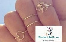Set 4 anillos Midi dorados Puro Love