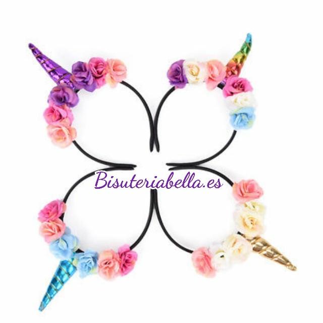 PREVENTA Diademas flores y unicornios