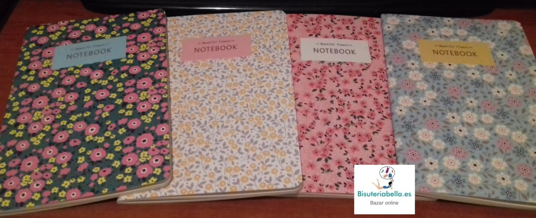 Notebook Florares Tamaño grande Diferentes a elegir