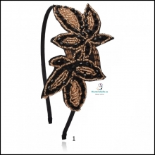 Diadema negra,fina ajustable tela y detalles