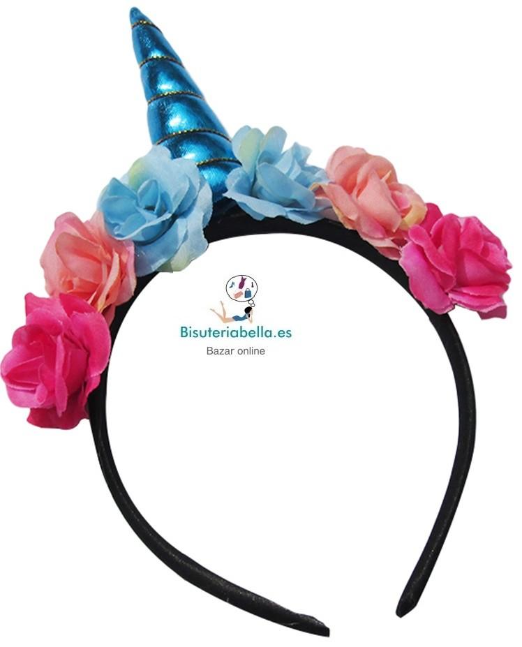 Diademas flores y unicornios