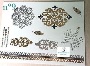 Tatuajes temporales efecto joyas a elegir