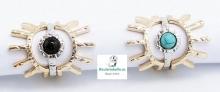 Set 3 anillos Chapados Oro y Plata Coctel Solar a elegir