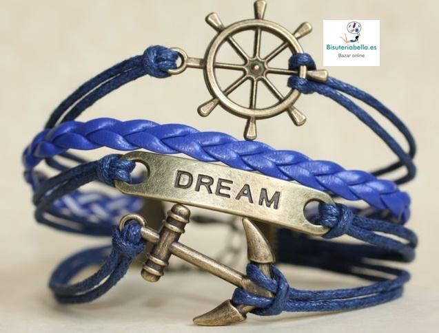 Pulsera 4 en 1 Ancla&Dream+ Timon bronce a elegir
