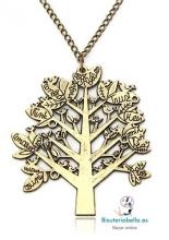 Colgante bronce Arbol de la vida con mensajes en ramas