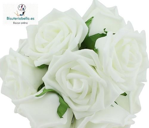 Lote 10 Rosas tonos a elegir (parecen reales)