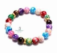 Pulsera bolas colores chakras,arcoiris