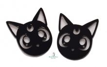 Pendientes medianos Gato Luna Sailor Moon