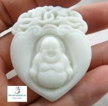 Pieza Buda Sonriendo natural Piedra Jade