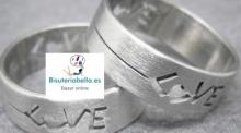 Anillo Unisex plata del tibet Talla 10 (Love)