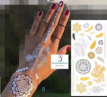 Tatuajes temporales efecto joyas a elegir V.1