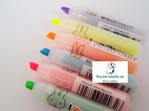Mini-Set Fluorescentes  Conejito Miffy x6