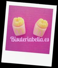 Pendientes Patatas fritas(McDonals) rosas y amarillas pequeños