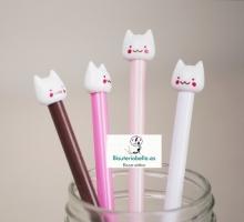 Boligrafos gatitos sonrientes 4 colores a elegir