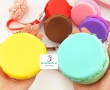 Monederos Medianos Macarons de Silicona tono a elegir